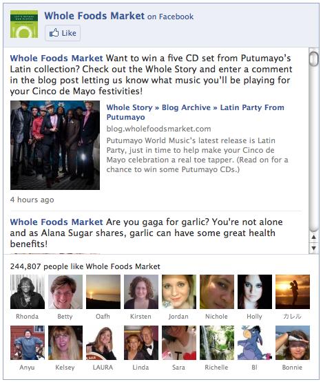 Posteos actualizados de Facebook en tu página web