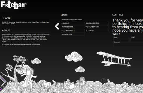 El sitio web destacado en su diseño artistico