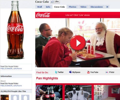 Marketing en Internet de Coca-Cola company