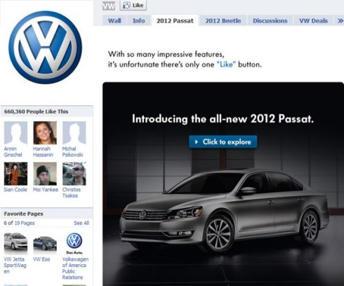 Marketing y redes Sociales VW
